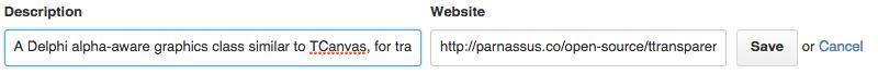 Entering a description and URL. Click Save :)